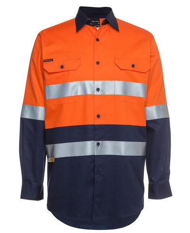 JB 6DNWL HIVIS TAPED SHIRT L/S - REDZ WORKWEAR + TOOLS NORTH LAKES