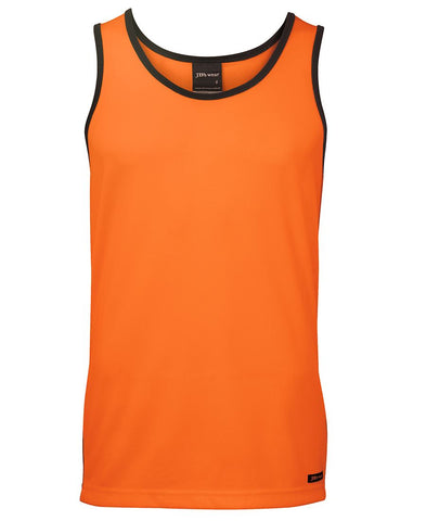 JB 6HCS4 HIVIS SINGLET - REDZ WORKWEAR + TOOLS NORTH LAKES