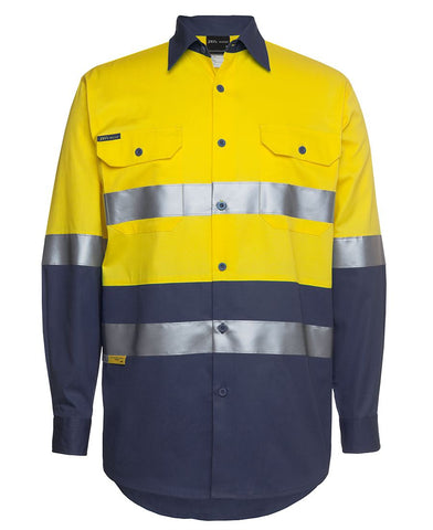 JB'S 6HLS HIVIS TAPED SHIRT L/S - REDZ WORKWEAR + TOOLS NORTH LAKES