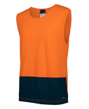 REDZ Workwear - HI VIS MUSCLE SINGLET TOP