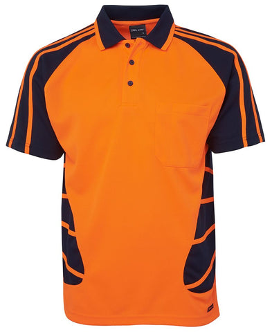 JB 6HSP HIVIS SPIDER POLO S/S - REDZ WORKWEAR + TOOLS NORTH LAKES