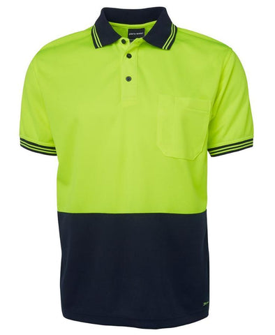 JB 6HVP HIVIS TRADITIONAL POLO S/S - REDZ WORKWEAR + TOOLS
