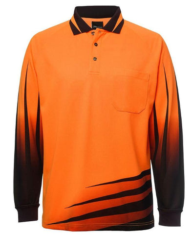 JB'S 6HVR HIVIS RIPPA SUB POLO L/S - REDZ WORKWEAR + TOOLS NORTH LAKES