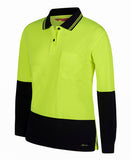 JB 6LHCL HIVIS LADIES POLO L/S - REDZ WORKWEAR + TOOLS