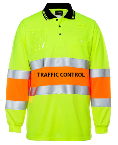 JB BIO MOTION POLO L/S with TRAFFIC CONTROL - redz