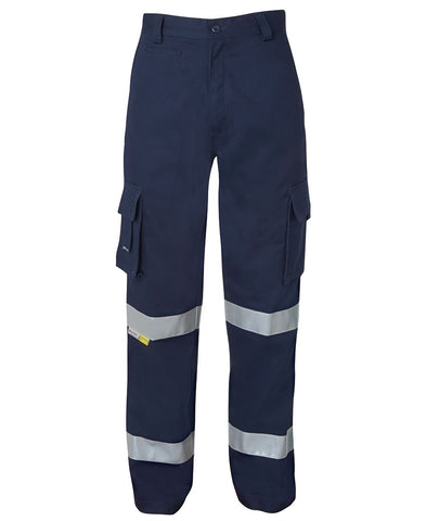 HI-VIS CARGO WORK PANT - 3M REFLECTIVE TAPE - AFTERPAY AVAILABLE - REDZ WORKWEAR