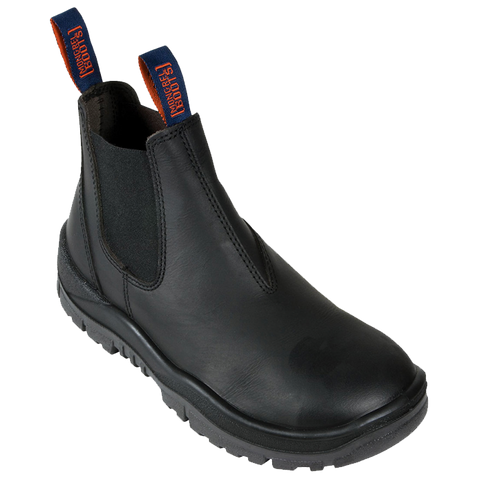 MONGREL 916020 NON-SAFETY ELASTIC SIDED BOOT - BLACK