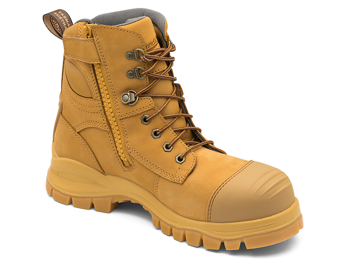 d9440f98f24 BLUNDSTONE 992 ZIP SIDE SAFETY BOOT WHEAT