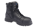 BLUNDSTONE 997 ZIP SIDE SAFETY BOOT BLACK - REDZ WORKWEAR