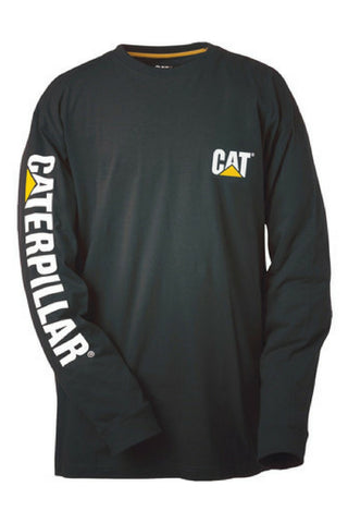 CAT TRADEMARK BANNER TEE BLACK - REDZ WORKWEAR + TOOLS NORTH LAKES