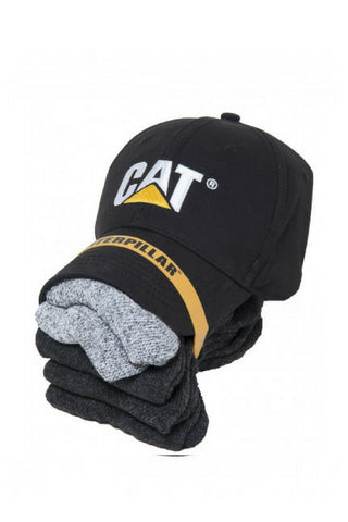 CAT CAP & SOCK PACK - REDZ WORKWEAR + TOOLS NORTH LAKES