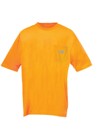 CAT HIVIS POCKET TEE - REDZ WORKWEAR + TOOLS NORTH LAKES