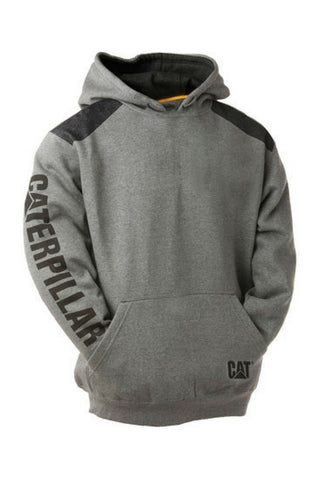 CAT LOGO PANEL HOODIE - REDZ WORKWEAR + TOOLS NORTH LAKES