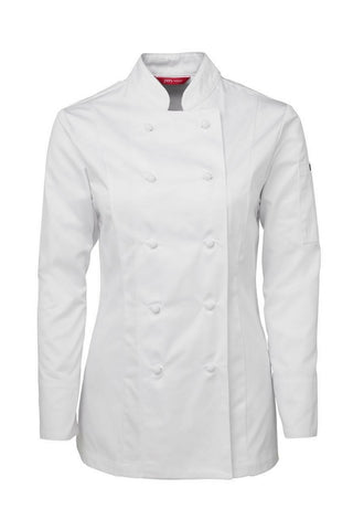 JB 5CJ1 LADIES CHEF JACKET L/S - REDZ WORKWEAR + TOOLS