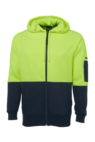 JB 6HVH HIVIS FULL ZIP HOODIE - REDZ WORKWEAR + TOOLS NORTH LAKES