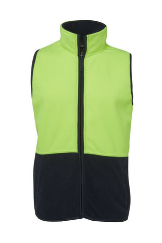 JB'S 6HVPV HIVIS POLAR FLEECE VEST - REDZ WORKWEAR + TOOLS NORTH LAKES
