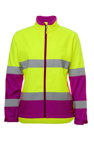 JB 6DWJ1 LADIES HIVIS SOFT SHELL D+N JACKET - REDZ WORKWEAR + TOOLS NORTH LAKES