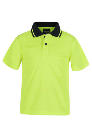 JB 6HVNC KIDZ HIVIS POLO - REDZ WORKWEAR + TOOLS NORTH LAKES