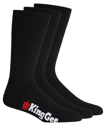 KING GEE K09230 Men's 3 Pack Bamboo Work Socks
