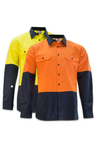 KM M2331NH TAPED L/S SHIRT - REDZ WORKWEAR + TOOLS