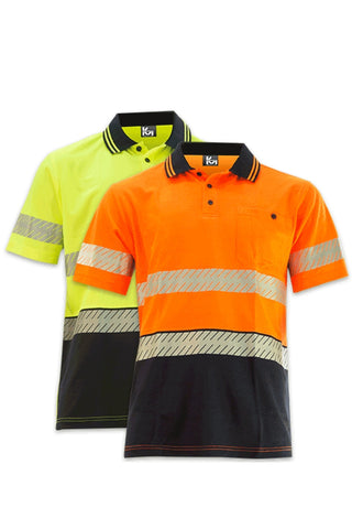 KM M1121T TAPED S/S POLO - REDZ WORKWEAR + TOOLS