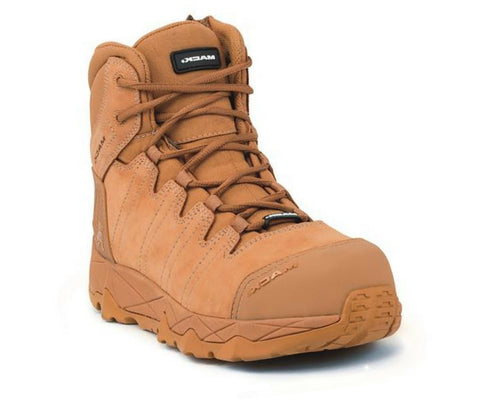 MACK OCTANE COMPOSITE TOE WORK BOOT HONEY ZIP SIDE - REDZ WORKWEAR + TOOLS NORTH LAKES