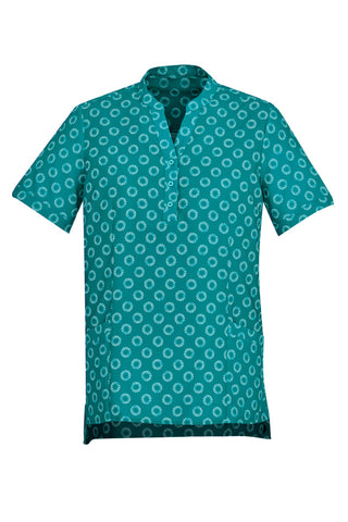 BIZCARE CS950LS LADIES EASY STRETCH DAISY PRINT TUNIC 3 COLOURS - REDZ WORKWEAR + TOOLS NORTH LAKES
