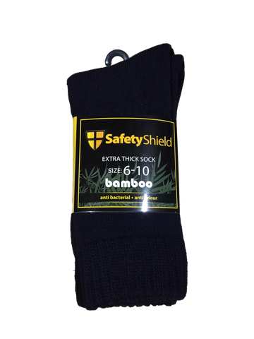 SAFETY SHIELD BAMBOO SOCKS 3 PK - REDZ WORKWEAR + TOOLS NORTH LAKES
