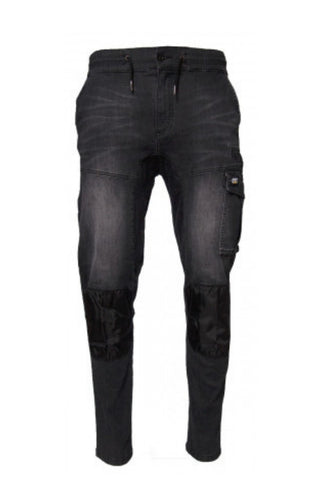 CAT BLACK DENIM DYNAMIC PANT - REDZ WORKWEAR + TOOLS NORTH LAKES
