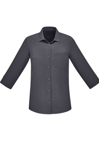 BIZCARE CS951LT LADIES EASY STRETCH 3/4 SHIRT 4 COLOURS - REDZ WORKWEAR + TOOLS NORTH LAKES
