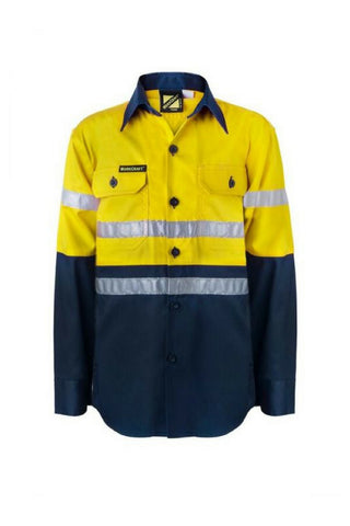 WORK CRAFT KIDS HI VIS L/S - REDZ WORKWEAR