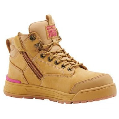 REDZ Workwear - HARD YAKKA Womens 3056 Zip Safety Boot - Wheat