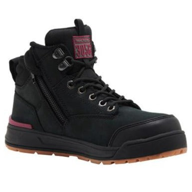 REDZ Workwear - HARD YAKKA Womens 3056 Zip Safety Boot - Black