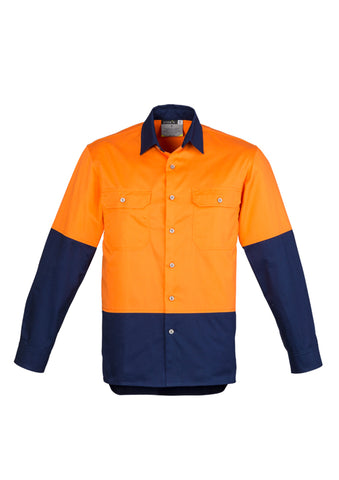 SYZMIK ZW122 UNISEX HI VIS SPLICED INDUSTRIAL SHIRT - redz WORKWEAR