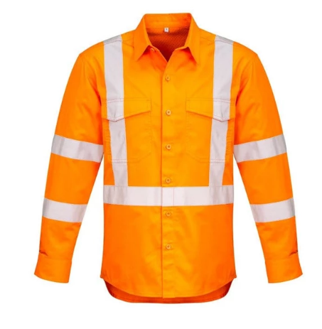 SYZMIK ZW690 MENS HIVIS X BACK TAPED SHIRT - REDZ WORKWEAR + TOOLS NORTH LAKES