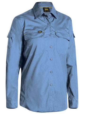 BISLEY BL6414 WOMENS X AIRFLOW™ RIPSTOP SHIRT - BLUE