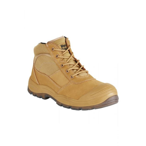 HARD YAKKA Y60120 UTILITY SAFETY BOOT - WHEAT - REDZ