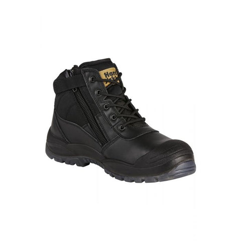 HARD YAKKA Y60125 UTILITY SAFETY BOOT - BLACK - redz