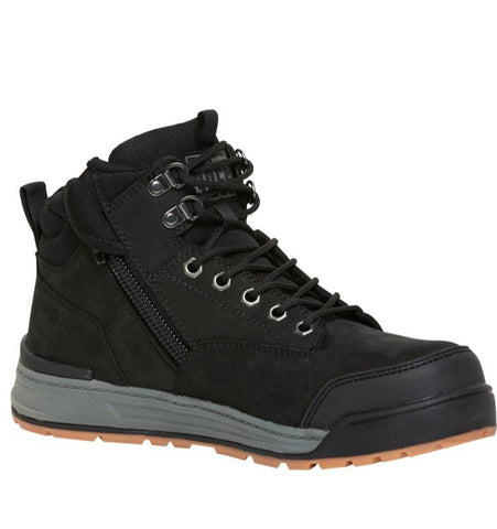 REDZ Workwear - HARD YAKKA 3056 Lace Zip Safety Boot - Black