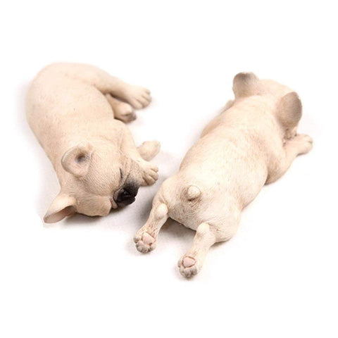 Super Realistic Miniature Sleeping French bulldog Frenchie figurines