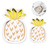 Pineapple Jewelry Ring Dish Tray Organize Small Serving Plates, Set of 2