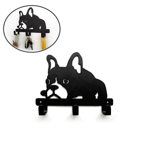 French Bulldog Shaped Wall Mounted Hook Rack - Resting Frenchie