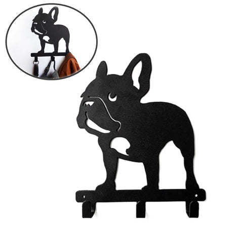 French Bulldog Shaped Wall Mounted Hook Rack - Standing Frenchie