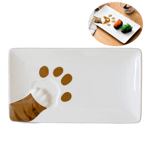 Cat Kitty Paw 3D Design Jewelry Trays Dessert Platter - Chocolate/ Brown Paw