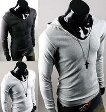 Hooded Cotton Plain Long Sleeve Pullover Mens Hoodies