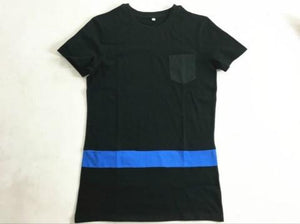 Long Extended Wag Elongated T-Shirt with Pocket