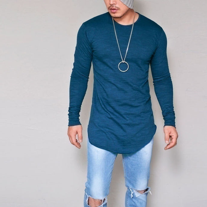 Casual Long Sleeve O-Neck Silm Fit T-Shirt