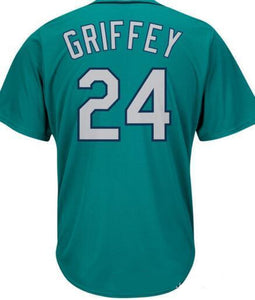 Seattle #24 Ken Griffey Jersey Stitched Home / Away