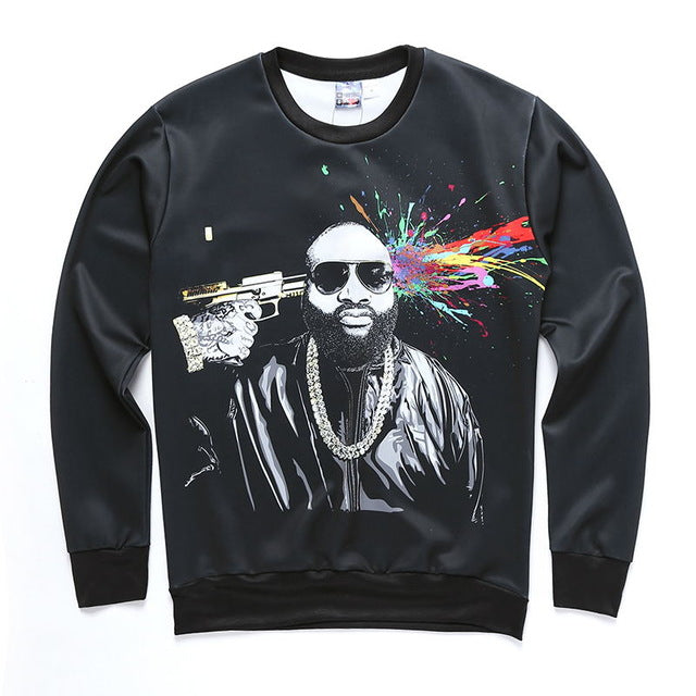 Rick Ross Brains Blown 3D Sweatshirt