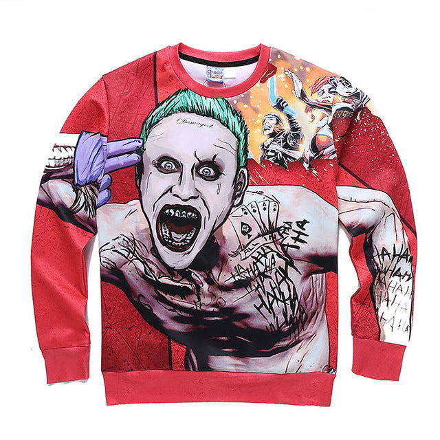 The Joker Brains Blown 3D Sweatshirt